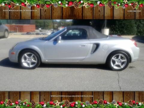 2002 Toyota MR2 Spyder for sale at Auto Wholesalers Of Rockville in Rockville MD