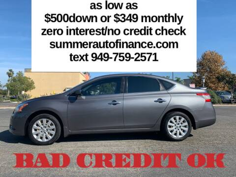 2015 Nissan Sentra for sale at SUMMER AUTO FINANCE in Costa Mesa CA