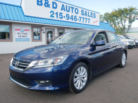 2015 Honda Accord for sale at B & D Auto Sales Inc. in Fairless Hills PA