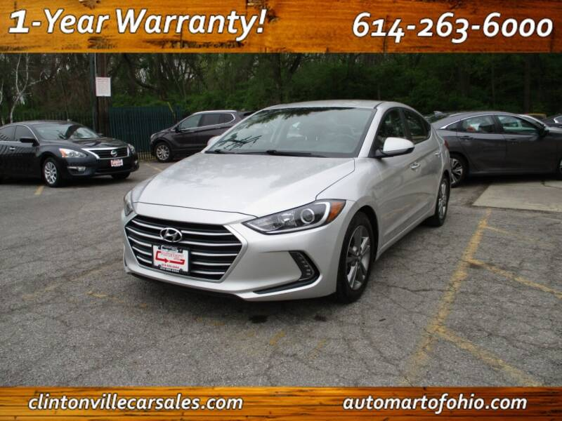 2017 Hyundai Elantra for sale at Clintonville Car Sales in Columbus OH