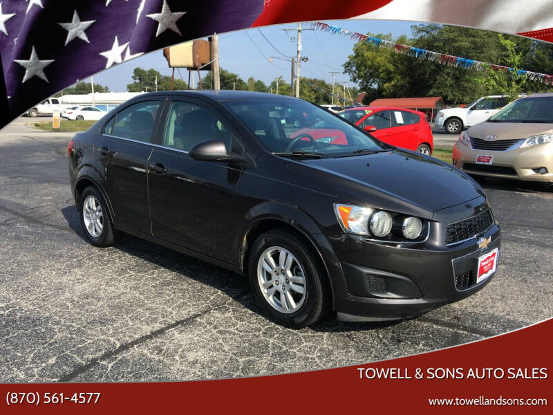 2015 Chevrolet Sonic for sale at Towell & Sons Auto Sales in Manila AR