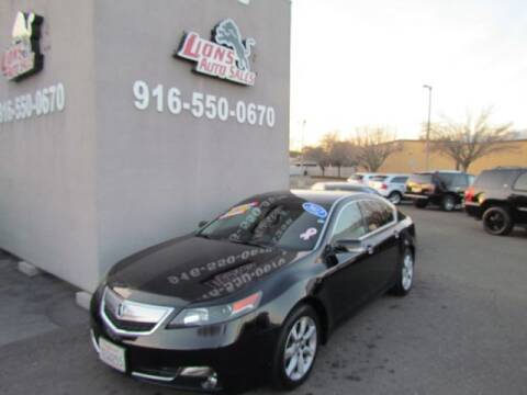 2012 Acura TL for sale at LIONS AUTO SALES in Sacramento CA