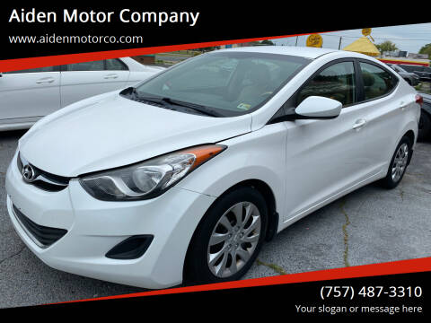 2013 Hyundai Elantra for sale at Aiden Motor Company in Portsmouth VA