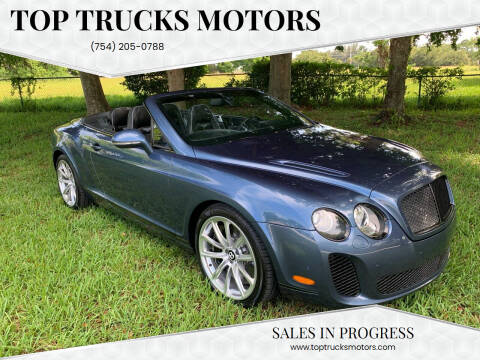 2011 Bentley Continental for sale at Top Trucks Motors in Pompano Beach FL