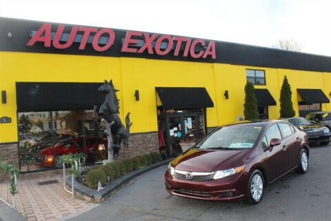2012 Honda Civic for sale at Auto Exotica in Red Bank NJ