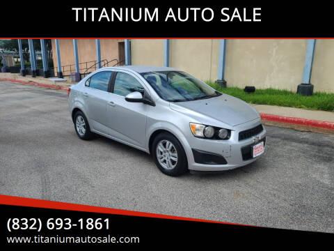 2012 Chevrolet Sonic for sale at TITANIUM AUTO SALE in Houston TX