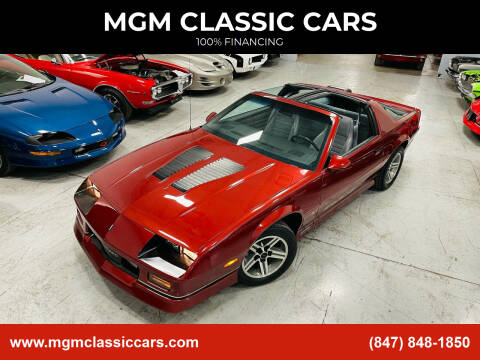 1986 Chevrolet Camaro for sale at MGM CLASSIC CARS in Addison, IL