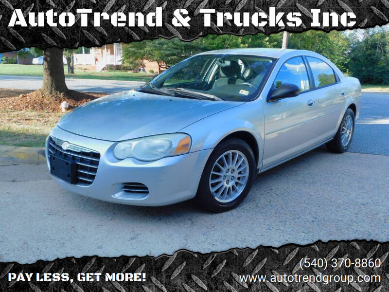 2005 Chrysler Sebring for sale at AutoTrend & Trucks Inc in Fredericksburg VA