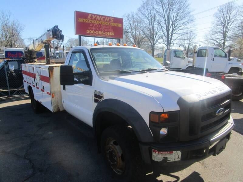 2008 Ford F450 w/IMT Knuckleboom for sale at Lynch's Auto - Cycle - Truck Center - Trucks and Equipment in Brockton MA