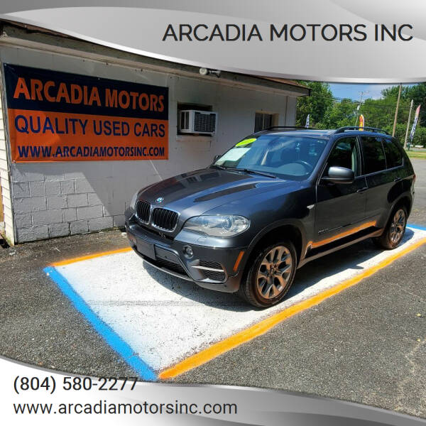 2013 BMW X5 for sale at ARCADIA MOTORS INC in Heathsville VA