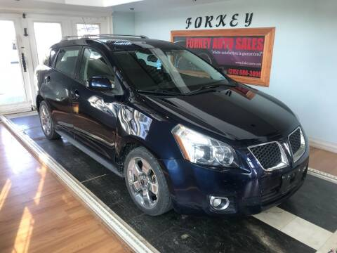 2009 Pontiac Vibe for sale at Forkey Auto & Trailer Sales in La Fargeville NY