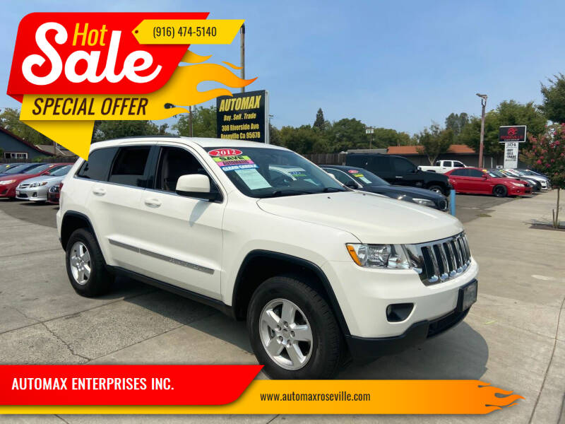 2012 Jeep Grand Cherokee for sale at AUTOMAX ENTERPRISES INC. in Roseville CA