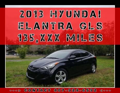 2013 Hyundai Elantra for sale at AFFORDABLE ONE LLC in Orlando FL