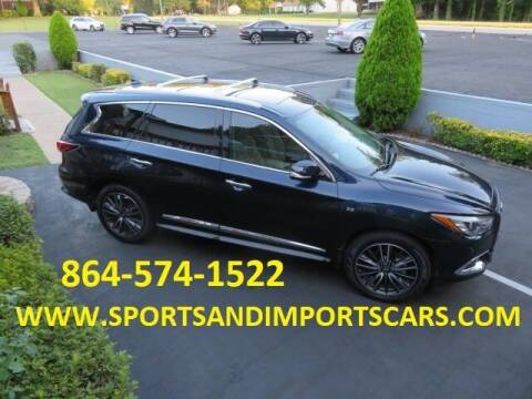 2017 Infiniti QX60 for sale at Sports & Imports INC in Spartanburg SC