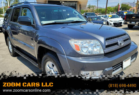 2003 Toyota 4Runner for sale at ZOOM CARS LLC in Sylmar CA