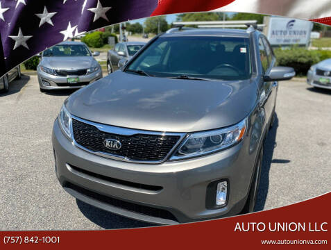 2015 Kia Sorento for sale at Auto Union LLC in Virginia Beach VA