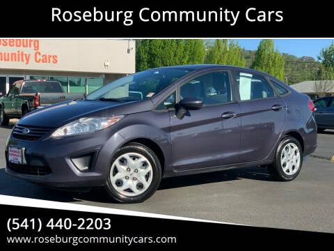 2012 Ford Fiesta for sale at Roseburg Community Cars in Roseburg OR