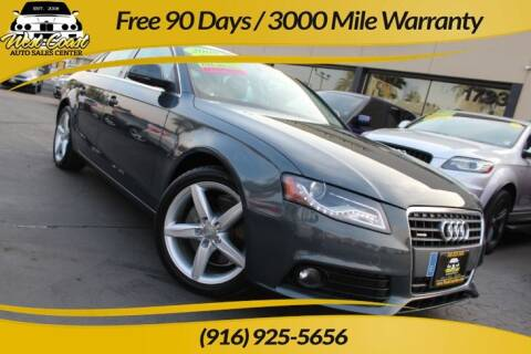 2009 Audi A4 for sale at West Coast Auto Sales Center in Sacramento CA