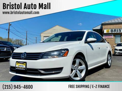 2012 Volkswagen Passat for sale at Bristol Auto Mall in Levittown PA