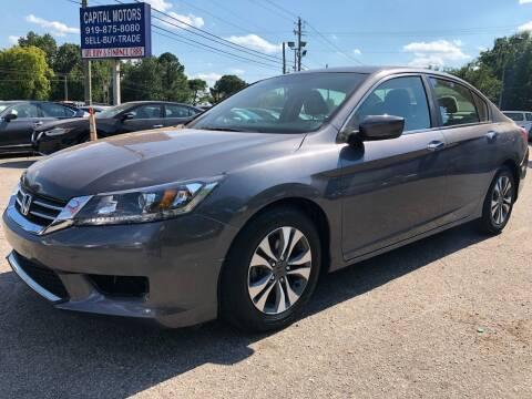 2013 Honda Accord for sale at Capital Motors in Raleigh NC