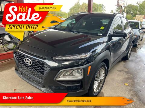 2021 Hyundai Kona for sale at Cherokee Auto Sales in Acworth GA