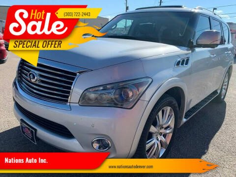 2012 Infiniti QX56 for sale at Nations Auto Inc. in Denver CO
