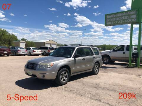 2007 Subaru Forester for sale at Independent Auto in Belle Fourche SD