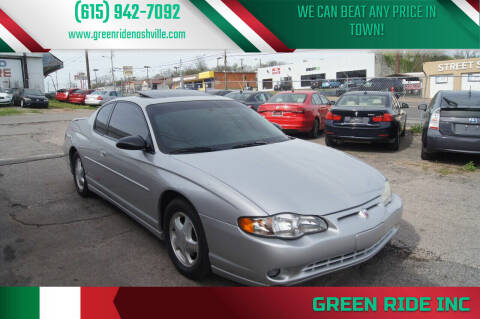 2001 Chevrolet Monte Carlo for sale at Green Ride Inc in Nashville TN