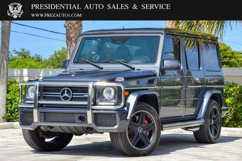 2015 Mercedes-Benz G-Class for sale at Presidential Auto  Sales & Service in Delray Beach FL