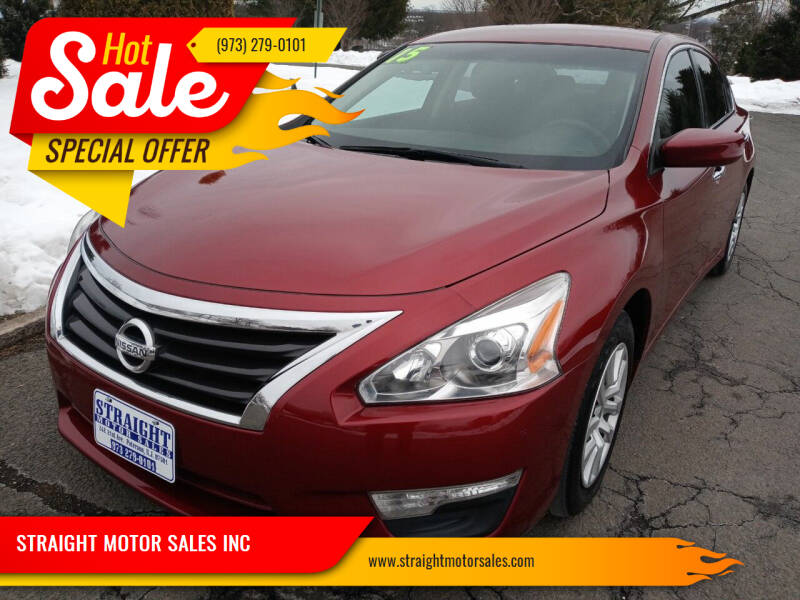 2015 Nissan Altima for sale at STRAIGHT MOTOR SALES INC in Paterson NJ