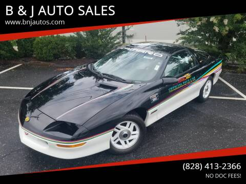 1993 Chevrolet Camaro for sale at B & J AUTO SALES in Morganton NC