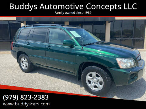 2003 Toyota Highlander for sale at Buddys Automotive Concepts LLC in Bryan TX