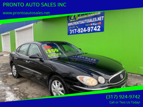 2006 Buick LaCrosse for sale at PRONTO AUTO SALES INC in Indianapolis IN
