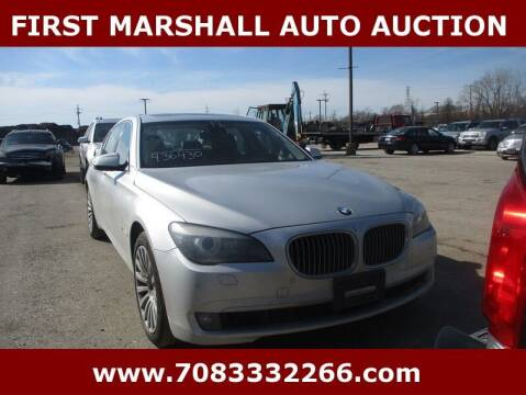 2012 BMW 7 Series for sale at First Marshall Auto Auction in Harvey IL