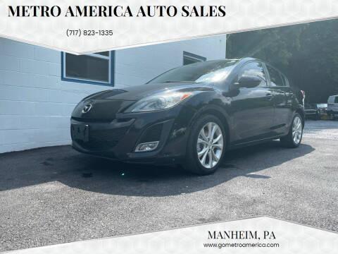 2011 Mazda MAZDA3 for sale at METRO AMERICA AUTO SALES of Manheim in Manheim PA