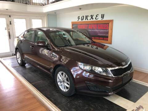 2011 Kia Optima for sale at Forkey Auto & Trailer Sales in La Fargeville NY