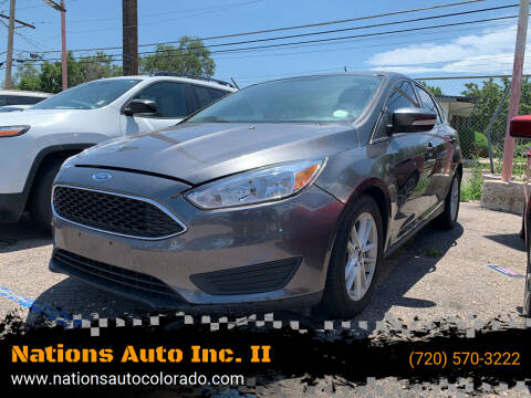 2015 Ford Focus for sale at Nations Auto Inc. II in Denver CO