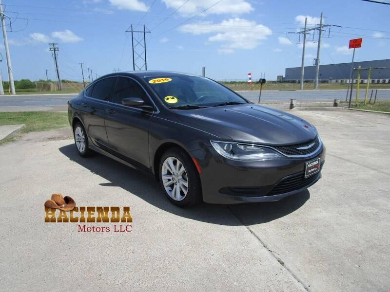 2016 Chrysler 200 for sale at HACIENDA MOTORS, LLC in Brownsville TX