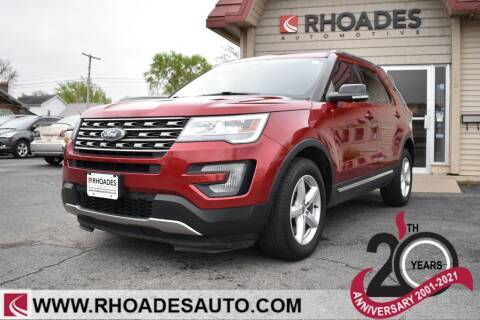 2017 Ford Explorer for sale at Rhoades Automotive in Columbia City IN