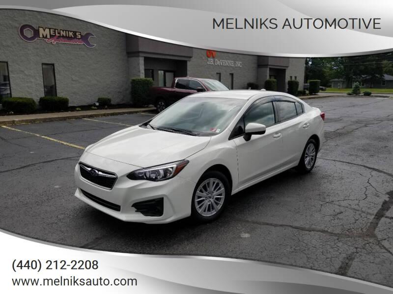 2017 Subaru Impreza for sale at Melniks Automotive in Berea OH