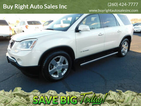 2008 GMC Acadia for sale at Buy Right Auto Sales Inc in Fort Wayne IN