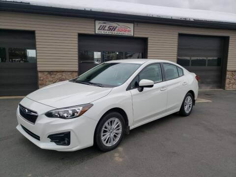 2017 Subaru Impreza for sale at Ulsh Auto Sales Inc. in Summit Station PA
