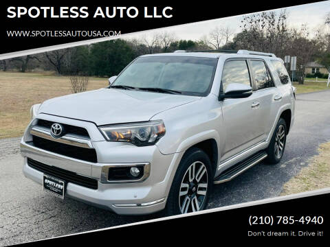 2015 Toyota 4Runner for sale at SPOTLESS AUTO LLC in San Antonio TX