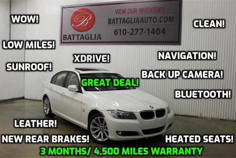 2011 BMW 3 Series for sale at Battaglia Auto Sales in Plymouth Meeting PA