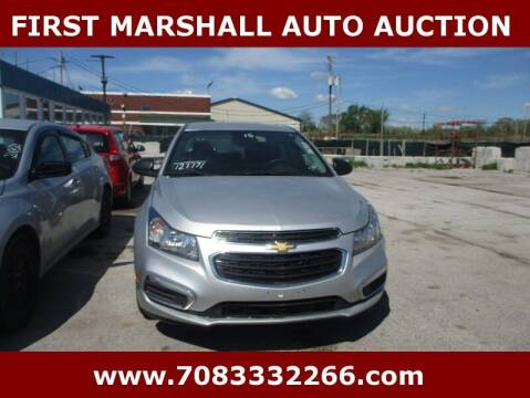 2015 Chevrolet Cruze for sale at First Marshall Auto Auction in Harvey IL