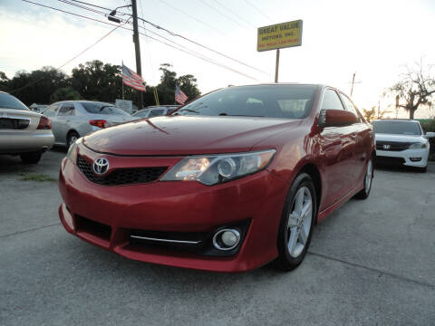 2013 Toyota Camry for sale at GREAT VALUE MOTORS in Jacksonville FL