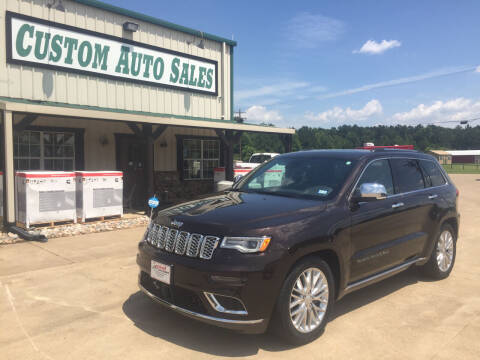 2017 Jeep Grand Cherokee for sale at Custom Auto Sales - AUTOS in Longview TX