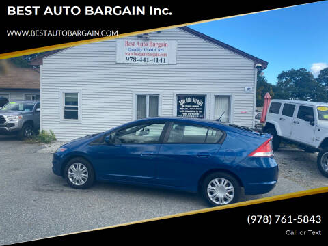 2011 Honda Insight for sale at BEST AUTO BARGAIN inc. in Lowell MA
