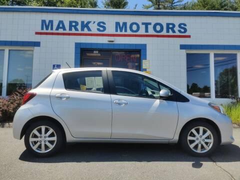 2015 Toyota Yaris for sale at Mark's Motors in Northampton MA