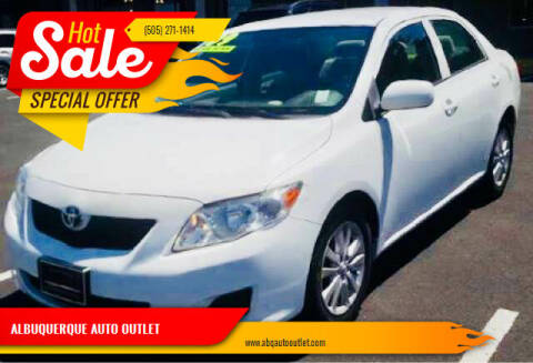 2009 Toyota Corolla for sale at ALBUQUERQUE AUTO OUTLET in Albuquerque NM